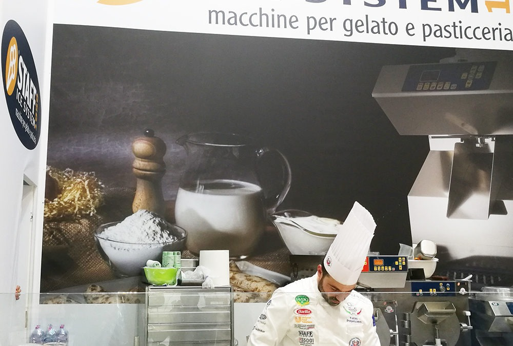 Show Cooking by Fabio Potenzano at Sigep 2018 for Staff Ice System