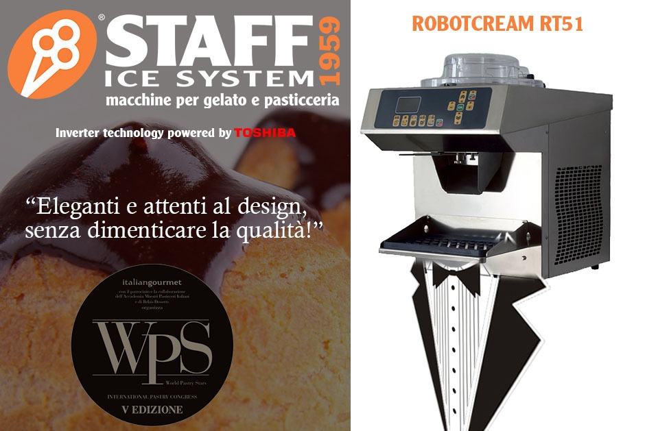 Staff Ice System at WPS 2018: for your pastry shop choose Robotcream!