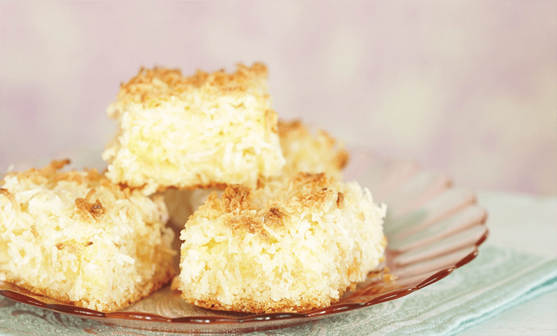 Lemon and coconut slice: an oceanic goodness!